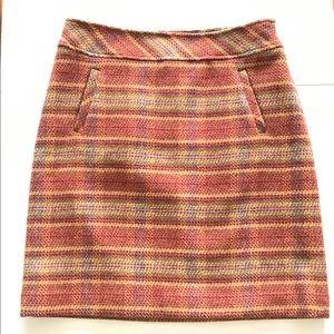 Talbots | Wool Blend Plaid Skirt Pencil Pockets 2